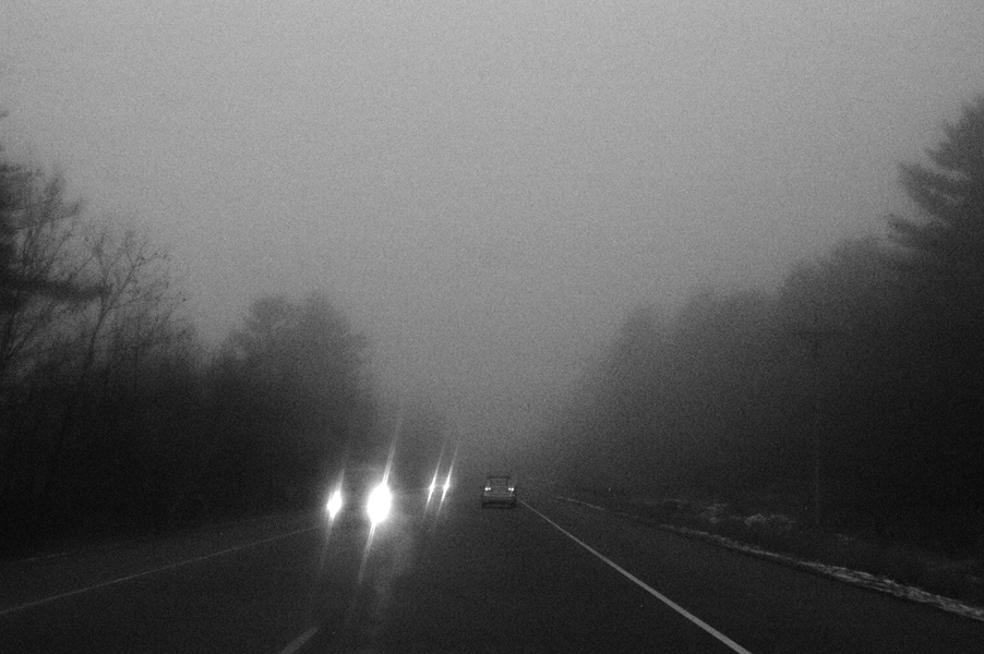foggy and driving some more.